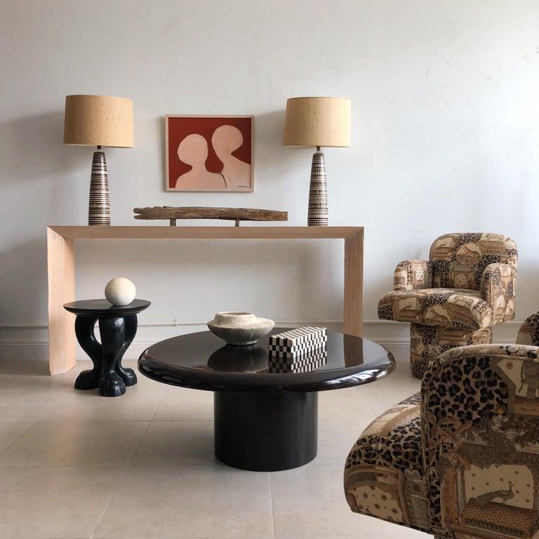 Vintage Tavolo Tondara Resin Coffee Table by Vico Magistretti for Artemide 1