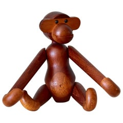 Vintage Teak and Limba wood Kay Bojesen Monkey Made in Denmark