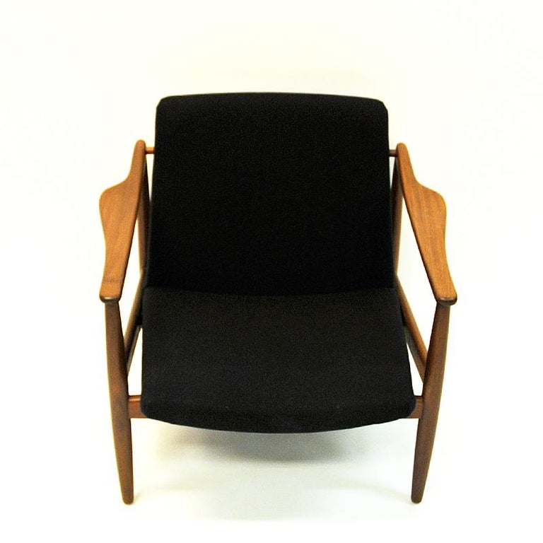 Mid-Century Modern Vintage Teak Armchair Pair by Hartmut Lohmeyer 1950s, Germany For Sale