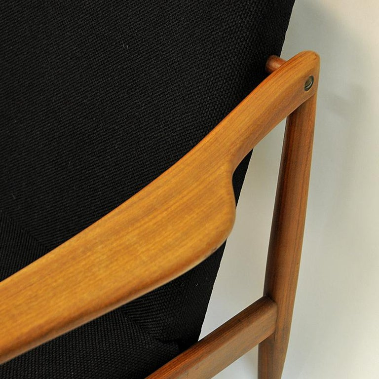 Vintage Teak Armchair Pair by Hartmut Lohmeyer 1950s, Germany For Sale 1