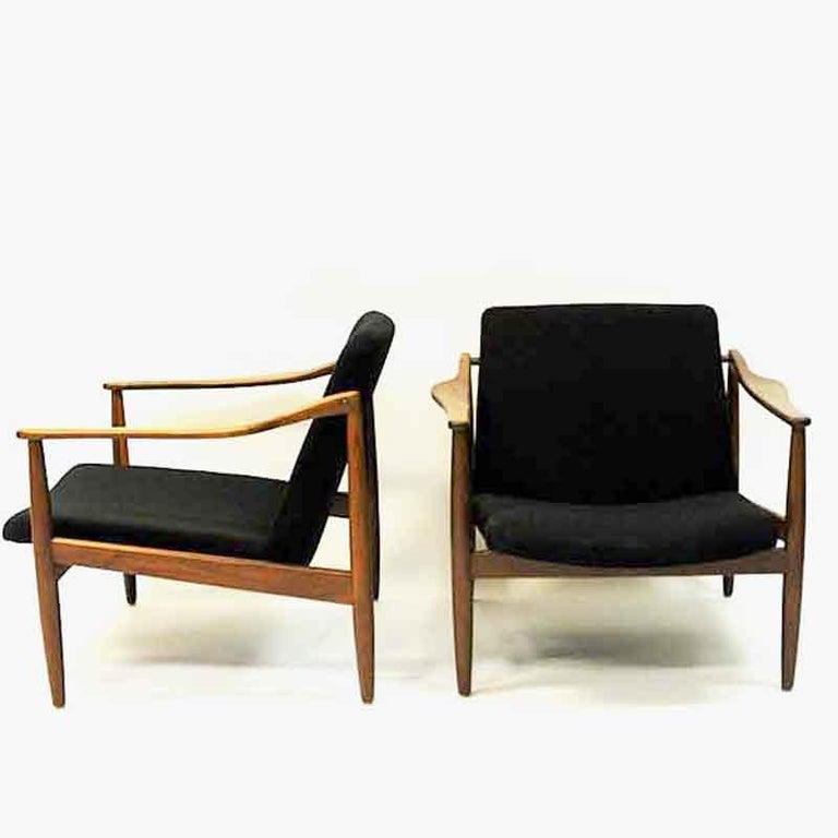 Vintage Teak Armchair Pair by Hartmut Lohmeyer 1950s, Germany For Sale 2