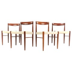 Vintage Teak Danish Dining Chairs by H.W. Klein for Bramin