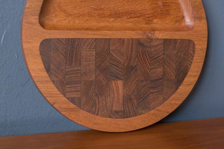Danish Vintage Teak Dansk Serving Tray Platter by Jens H. Quistgaard For Sale