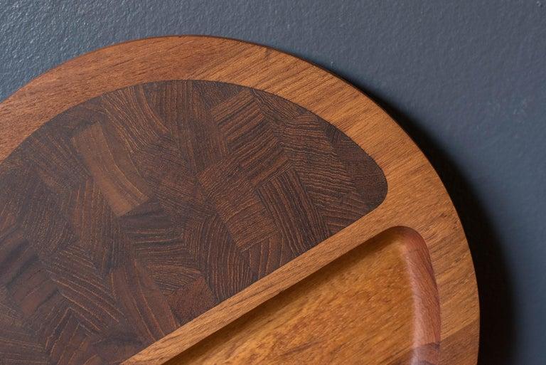 Vintage Teak Dansk Serving Tray Platter by Jens H. Quistgaard In Good Condition For Sale In San Jose, CA