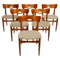 Vintage Teak Dining Chairs by Johannes Andersen, 1960s, Set of 6