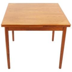Vintage Teak Extendable Table, Denmark, 1960s
