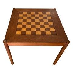 Vintage Teak Flip-top Chess Table by Georg Petersens