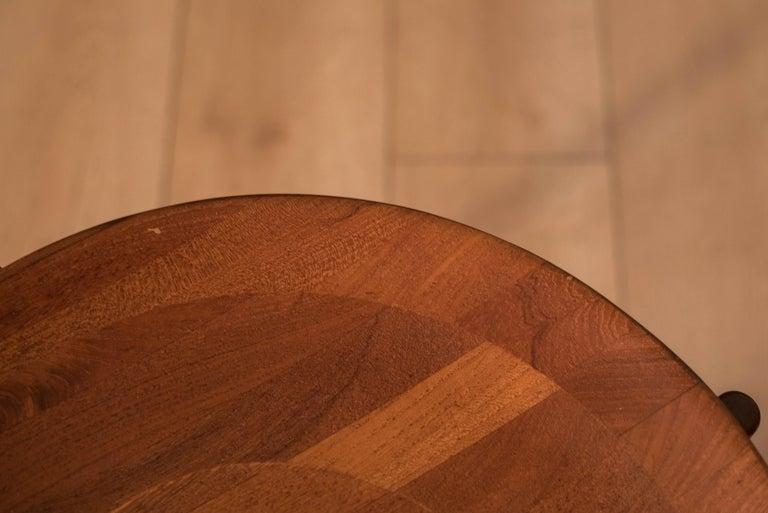 Vintage Teak Reversible Tray End Table by Dux 4