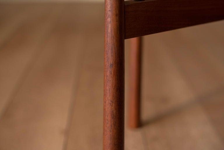 Vintage Teak Reversible Tray End Table by Dux 5