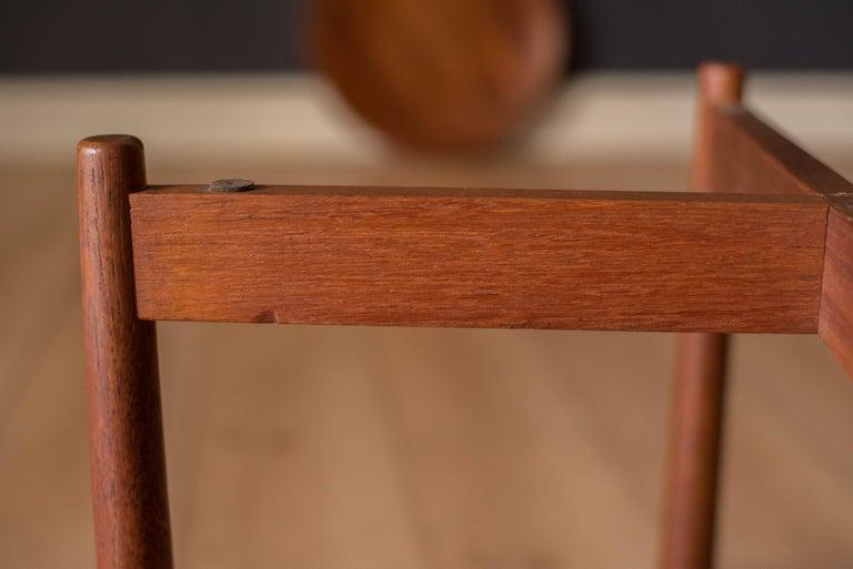Vintage Teak Reversible Tray End Table by Dux 6