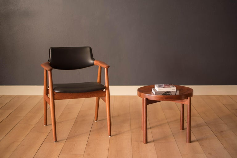 Scandinavian Modern Vintage Teak Reversible Tray End Table by Dux