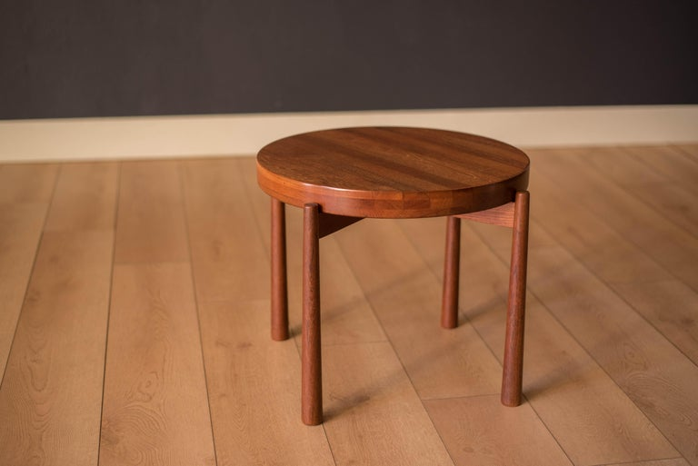 Vintage Teak Reversible Tray End Table by Dux 1