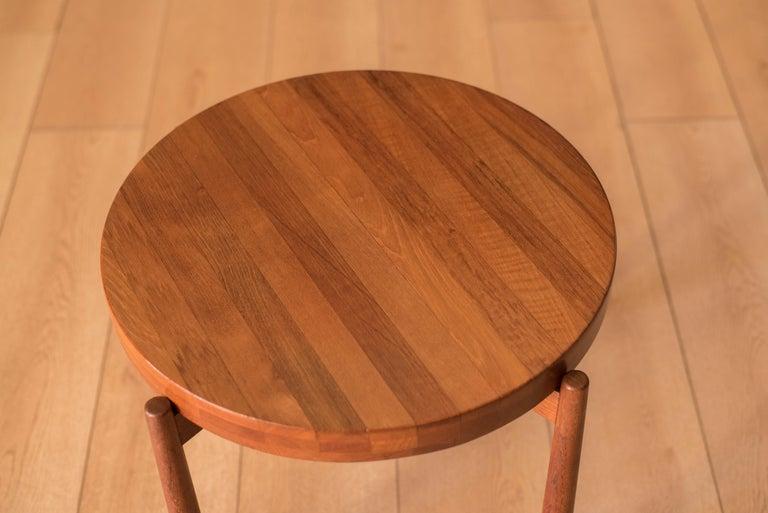 Vintage Teak Reversible Tray End Table by Dux 2