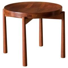 Vintage Teak Reversible Tray End Table by Dux