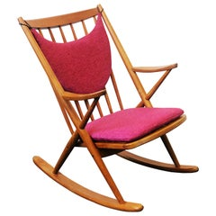Vintage Teak Rocking Chair by Frank Reenskaug for Bramin Møbler, 1960s