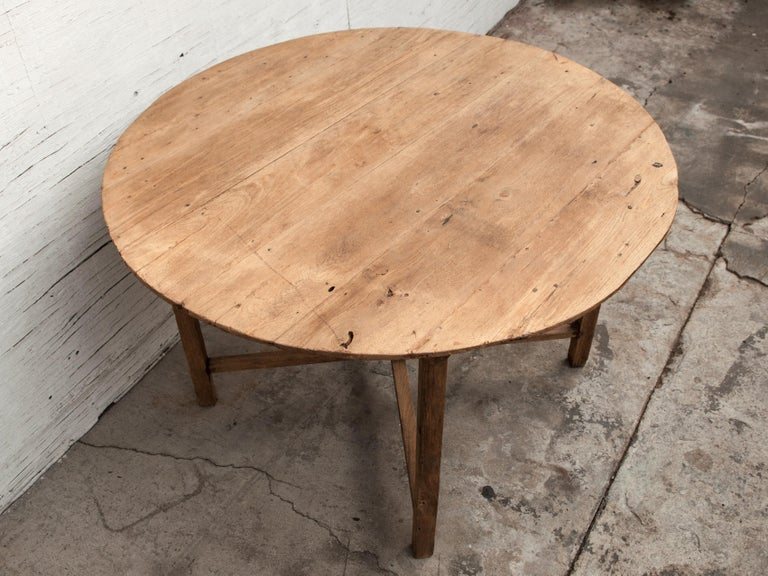 46 Inch Round Table.Vintage Teak Round Table Farm Table From Burma Mid 20th Century