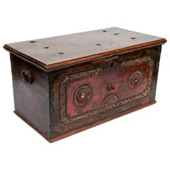 Vintage Teak Storage Chest with Original Color from Java, Mid-20th Century