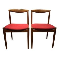 Vintage Teak Vamo PV Dining Chairs by Arne Vodder for Vamo Sonderborg, 2 Pieces
