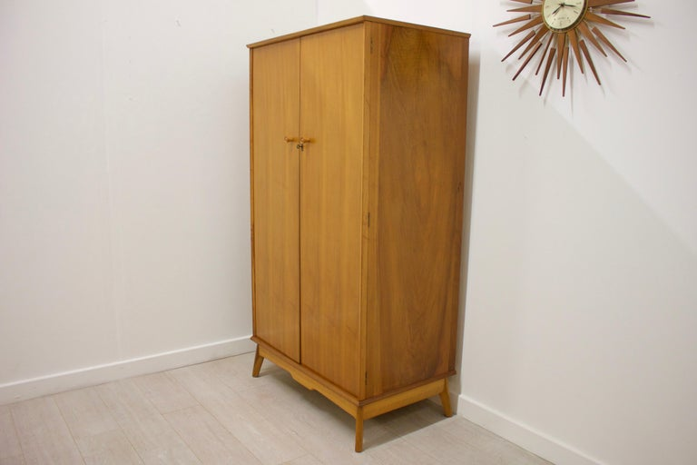 Mid-Century Modern Vintage Teak Wardrobe by Alfred Cox for Heal's, 1960s