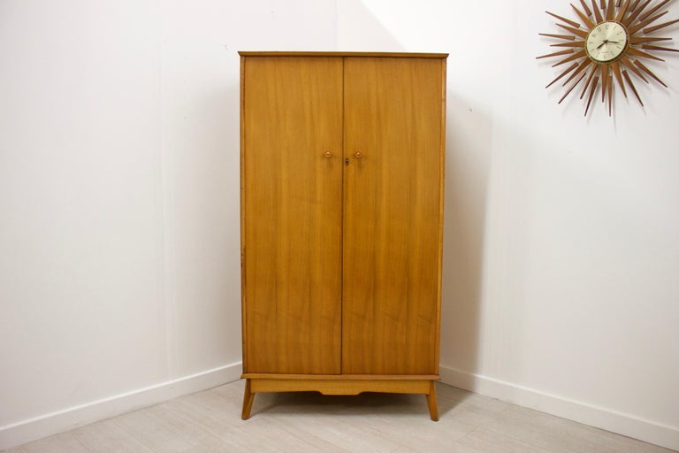 English Vintage Teak Wardrobe by Alfred Cox for Heal's, 1960s
