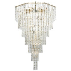 Vintage Teardrop Crystal Chandelier