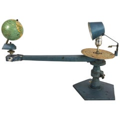 Vintage Tellurian Which Shows How the Earth Revolves Around the Sun
