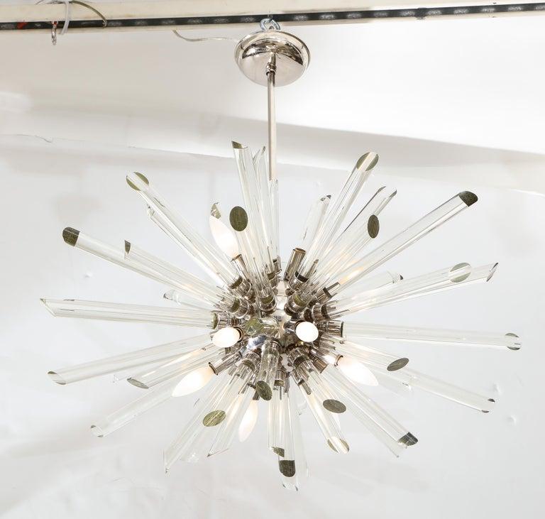 Vintage Ten-Light Sputnik Chandelier For Sale 3