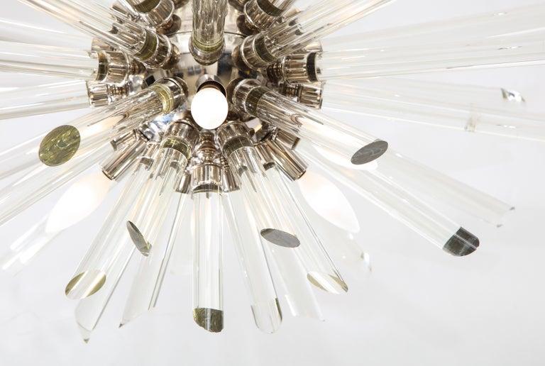 Mid-Century Modern Vintage Ten-Light Sputnik Chandelier For Sale