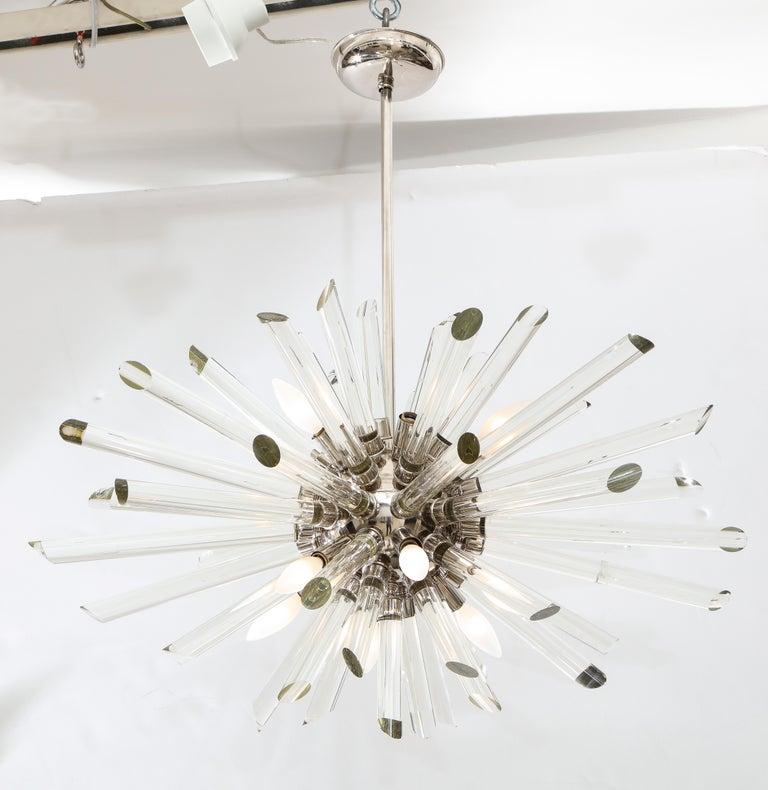 Vintage Ten-Light Sputnik Chandelier In Good Condition For Sale In New York, NY
