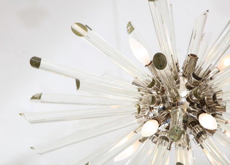 Late 20th Century Vintage Ten-Light Sputnik Chandelier For Sale
