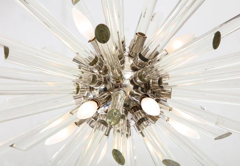Glass Vintage Ten-Light Sputnik Chandelier For Sale