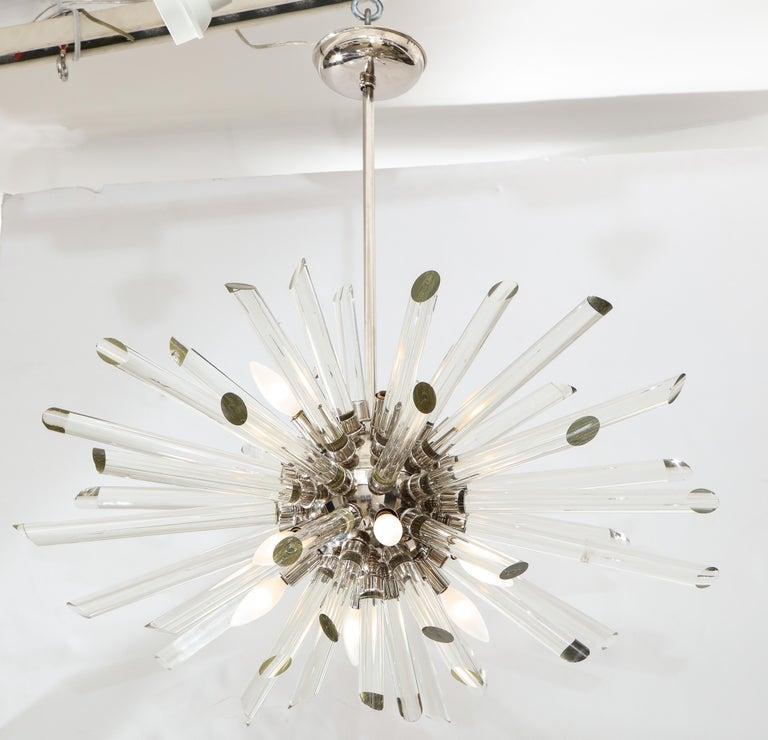 Vintage Ten-Light Sputnik Chandelier For Sale 1