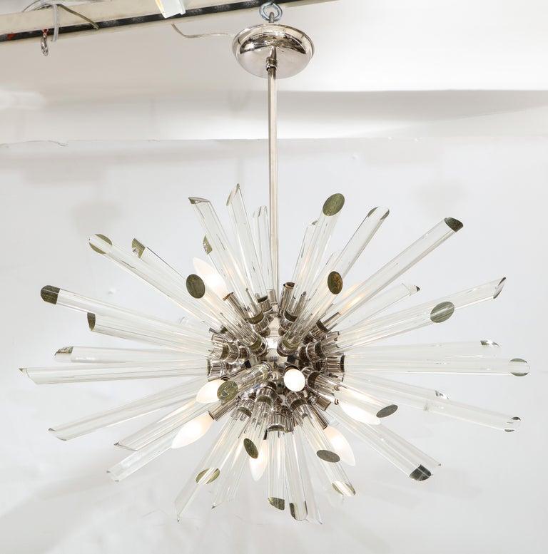 Vintage Ten-Light Sputnik Chandelier For Sale 2