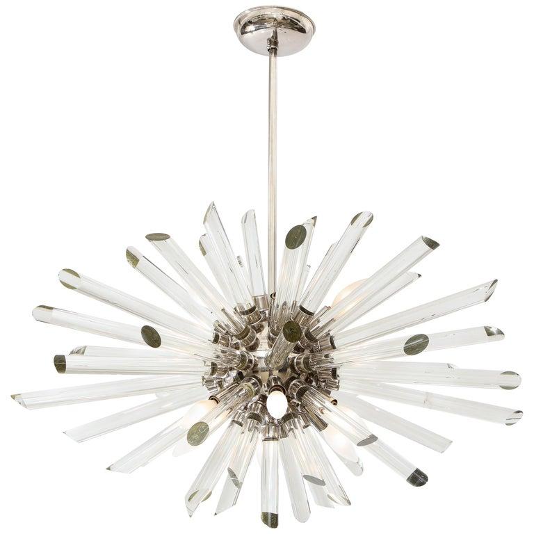 Vintage Ten-Light Sputnik Chandelier For Sale