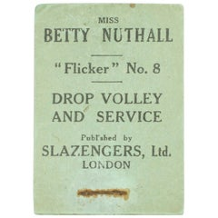 Vintage Tennis Flicker Book, No.8. Betty Nuthall