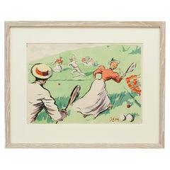 Vintage Tennis, Georges Goursat (SEM) Lawn Tennis Print