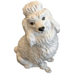 Vintage Terracotta Glazed French Poodle