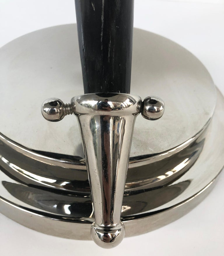 Vintage Tessellated Horn and Chrome Side Table For Sale 3