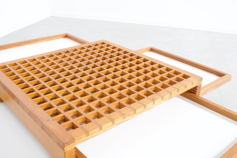 Vintage 'Tetra' Coffee Table by Bernard Vuarnesson for Bellato In Good Condition For Sale In Echt, NL