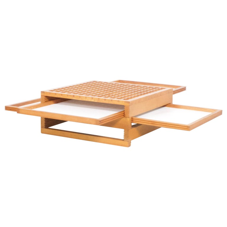 Vintage 'Tetra' Coffee Table by Bernard Vuarnesson for Bellato For Sale