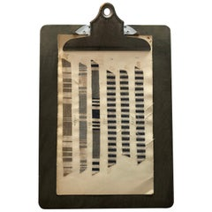 Vintage Textile Strips Mounted to Clipboards