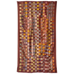 Vintage Textile Wrapping Cloth Ceremonial Kente from Ghana