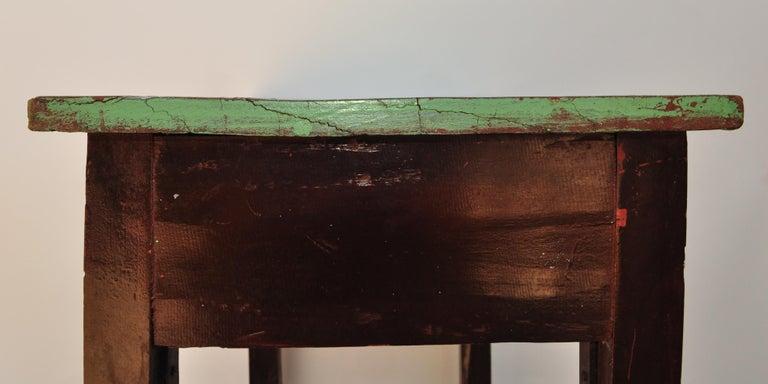 Vintage Thai School Desk with Painted Desktop, North Thailand, Mid-20th Century For Sale 4