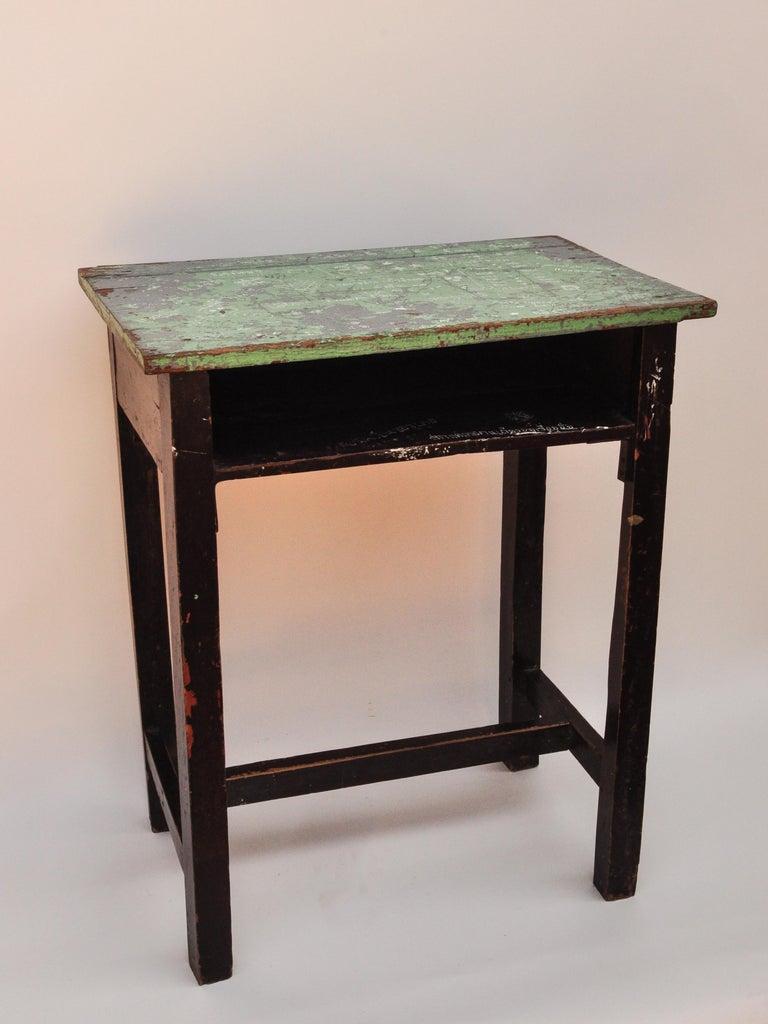 Vintage Thai School Desk with Painted Desktop, North Thailand, Mid-20th Century For Sale 7