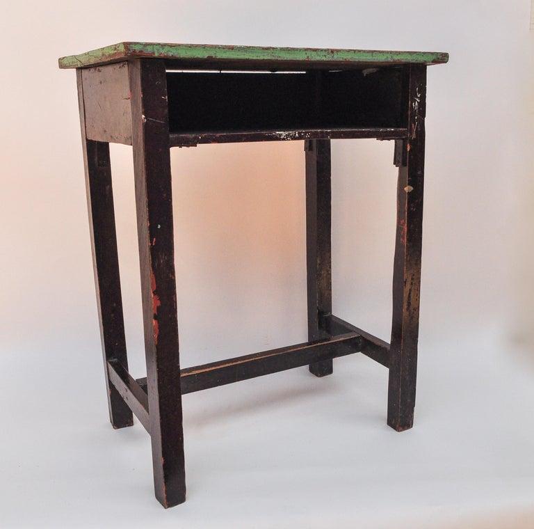 Vintage Thai School Desk with Painted Desktop, North Thailand, Mid-20th Century For Sale 8