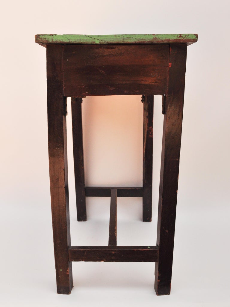 Vintage Thai School Desk with Painted Desktop, North Thailand, Mid-20th Century For Sale 10