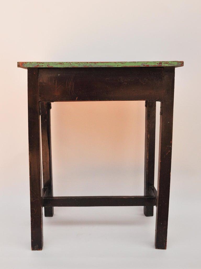 Vintage Thai School Desk with Painted Desktop, North Thailand, Mid-20th Century For Sale 11