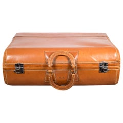 """Vintage """"The Colonel"""" Leather Luggage, circa 1950"""