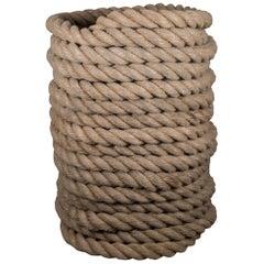 Vintage Thick Nautical Deck Rope, circa 1940-1960
