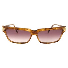 Vintage Thierry Mugler 427 Tortoise Cat Eye Medium Size 1980's Paris Sunglasses
